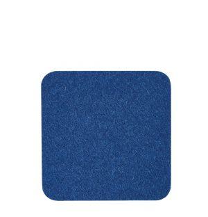Dessous de verre en feutre bleu
