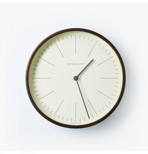 Horloge Mr Clarke en contreplaqué noir - 28 cm
