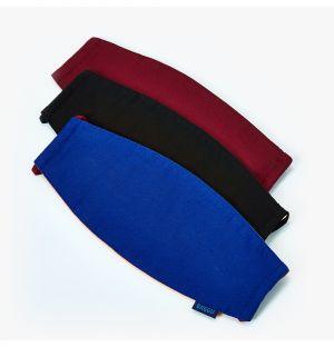 Lot de 3 masques réutilisables - bleu, noir et bordeaux