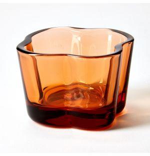 Bougeoir translucide orange Séville