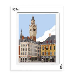 Affiche «Lille » par Paulo Mariotti - 40 x 50 cm