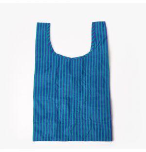 Sac réutilisable - à rayures bleues