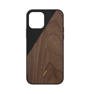 Coque  en bois foncé N.U Clic pour iPhone 12 Pro