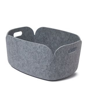 Panier de rangement Restore gris