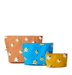 Trio de pochettes à fleurs