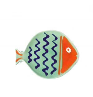 Plat Fish vert et rouge