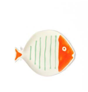 Plat Fish blanc et rouge