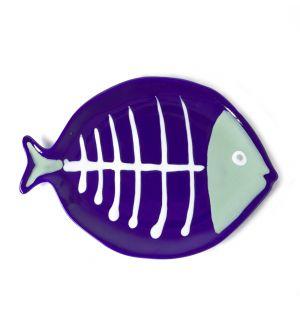 Plat Fish bleu et vert