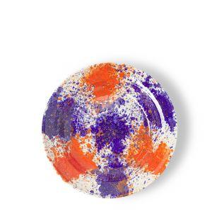 Saladier Splatter orange et violet