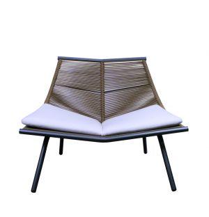 Chaise longue LAZE 001 fumée et olive - Modèle d'exposition