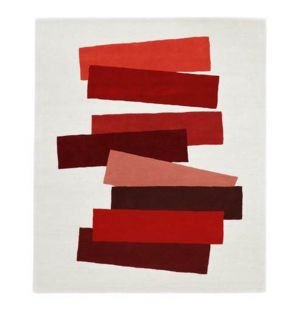 Tapis The Many Faces of Red par Josef Albers 150 x 180 cm