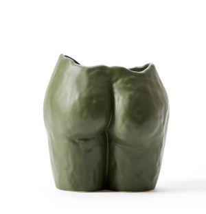 Vase Popotin vert olive mate