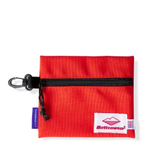 Pochette zippée rouge