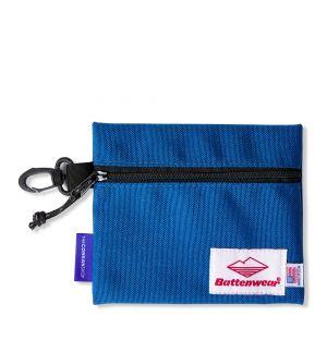 Pochette zippée bleue