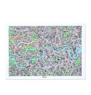 Carte de Londres dessinée à la main