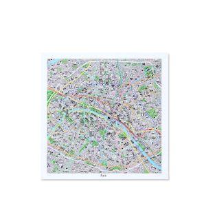 Carte de Paris dessinée à la main
