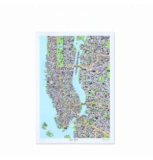 Carte de New York dessinée à la main