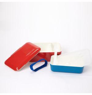 Double bento box rouge et bleue