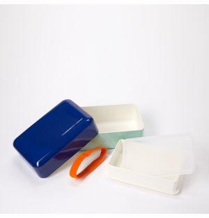 Bento box rectangulaire bleu Conran et menthe