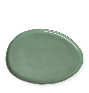 Grand plat olive en céramique