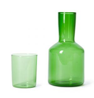 Set carafe et verre J'ai Soif vert