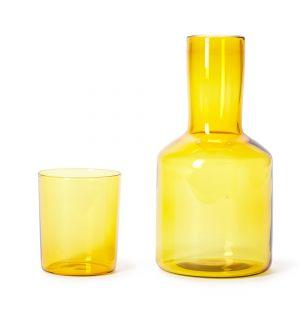 Set carafe et verre J'ai Soif jaune