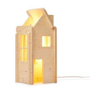 Lampe IO House en contreplaqué naturel