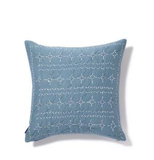 Housse de coussin Rice bleue 45 x 45 cm