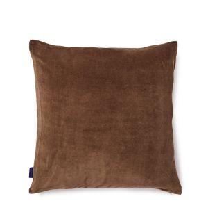 Housse de coussin en velours chocolat 50 x 50 cm