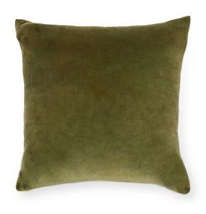 Housse de coussin en velours olive 50 x 50 cm