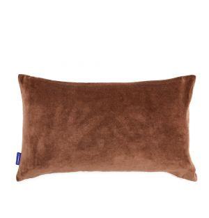 Housse de coussin en velours chocolat 30 x 50 cm