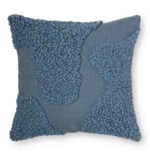 Housse de coussin Sappa en laine et coton bleu 45 x 45 cm