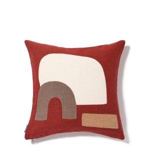 Housse de coussin Yukon rouge 45 x 45 cm