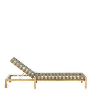 Chaise longue Mistral 104 gris et teck