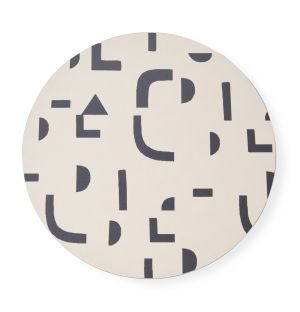 Set de table rond Abstract