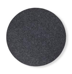 Set de table rond en feutre gris