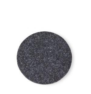 Dessous de verre rond en feutre gris