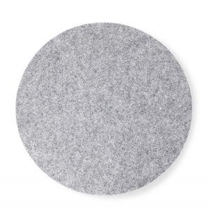 Set de table rond en feutre gris clair