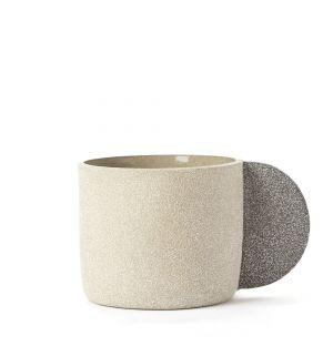 Grand mug gris clair
