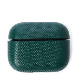 Étui pour Airpods Pro en cuir vert foncé