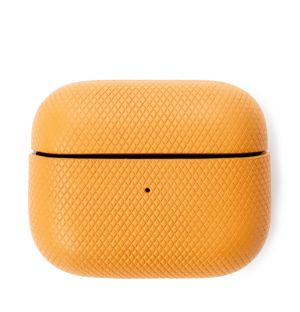 Étui pour Airpods Pro en cuir jaune