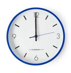Horloge murale bleu Conran