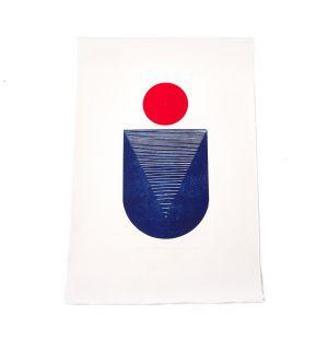 Impression Red Moon : Study of Balance