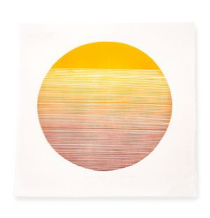 Impression Summer Sun : Study of Balance With Gradient Lines