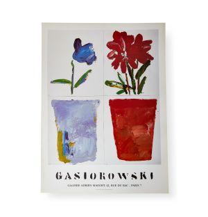Affiche « Fleurs #131/132 » par Gérard Gasiorowski