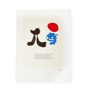 Affiche « Parler Seul » par Joan Miró