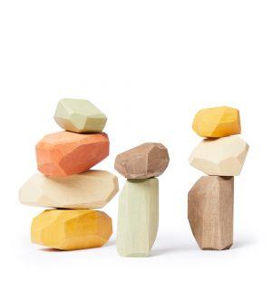 Pierres d'équilibre en bois