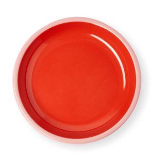 Petite assiette rouge et rose