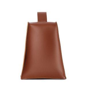 Cale-porte en cuir marron Cuero