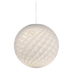 Suspension ronde Patera blanc mat
